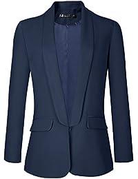 Urban GoCo Femme Veste De Tailleur Courte Casual Slim OL Blazer Blouson  Costume d affaires ef1d18ca7b6
