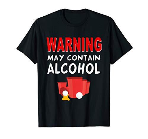Warnung kann Alkohol enthalten T-Shirt -