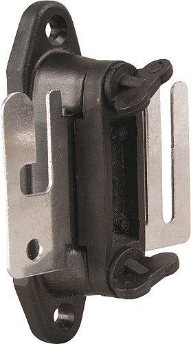Isolateur pour poignée ruban, plastiquemassif, avec plaquette de raccordement en inox, les 2 - 167602