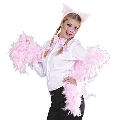 Schwein Kostüm Set Schweinekostüm 4 tlg. Schweine Ohren Nase Schwanz Fliege Schweinkostüm Bauernhof Ferkel Tierkostüm Schweinchen Faschingskostüm Karnevalskostüme Tiere (Schweine Ohren Und Nase Kostüm)