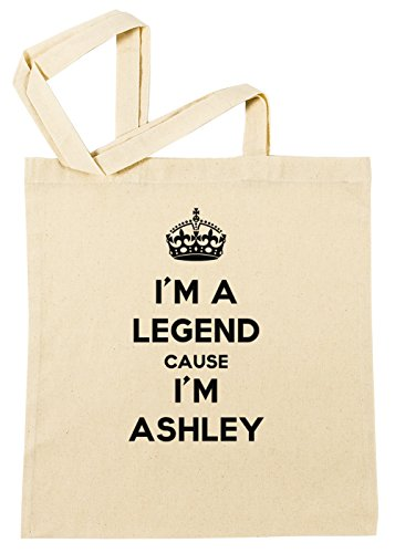 im-a-legend-cause-im-ashley-bolsa-de-compras-playa-de-algodon-reutilizable-shopping-bag-beach