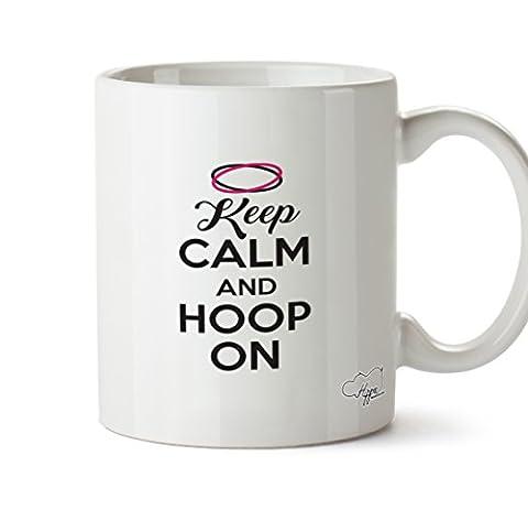 Hippowarehouse Keep Calm et Créoles sur 283,5gram Mug Cup, Céramique, blanc, One Size (10oz)