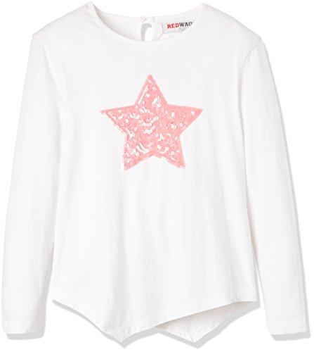 RED WAGON Girl's Embellished Assymetric Longsleeve Top