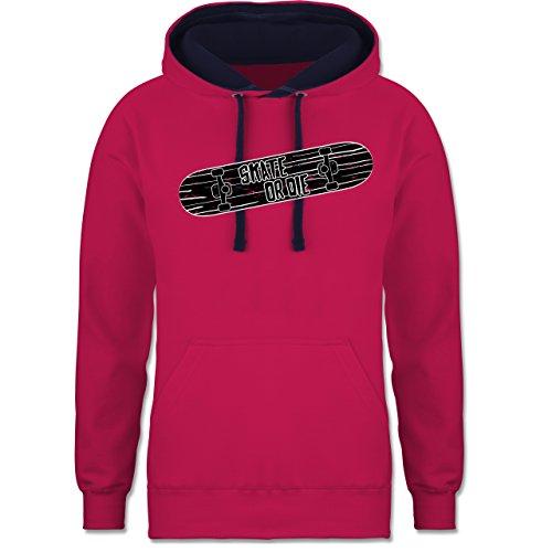 sonstige-sportarten-skate-or-die-xl-fuchsia-navy-blau-fh002-zweifarbiger-kapuzenpullover-hoodie-fur-