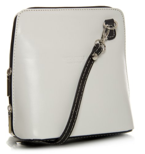 Big Handbag Shop, Borsa a tracolla donna One White - Black