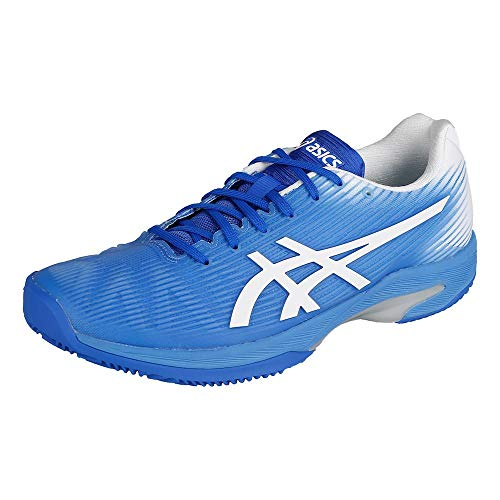 ASICS Donna Solution Speed FF Clay Scarpe da Tennis Scarpa per Terra Rossa Blu - Bianco 40,5