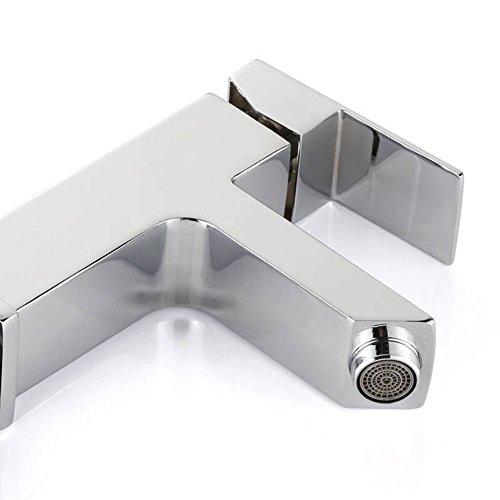 Homelody Waschtischarmatur Badarmatur Mischbatterie Waschbecken Wasserhahn Waschtisch armatur bad Waschbeckenamatur Einhebelmischer f.badzimmer -