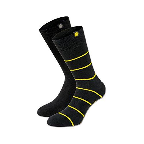 BVB Herren Socken Set Socken Set, schwarz/gelb, 35 - 38, 2466330