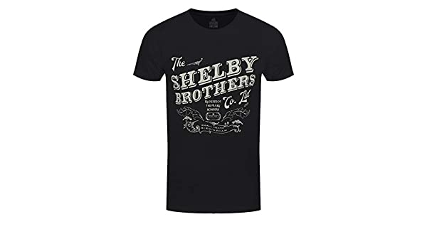 6504e289 Official T Shirt Peaky Blinders Shelby 'Brothers Logo Classic' Black:  Amazon.co.uk: Clothing