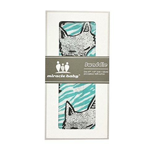 Miracle bébé 100% coton bébé en mousseline Nid d'ange, 120 x 120 cm, Blue Fox