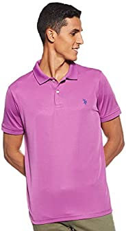 U.S. POLO ASSN. Men's Solid Stretch Performance Polo T-S
