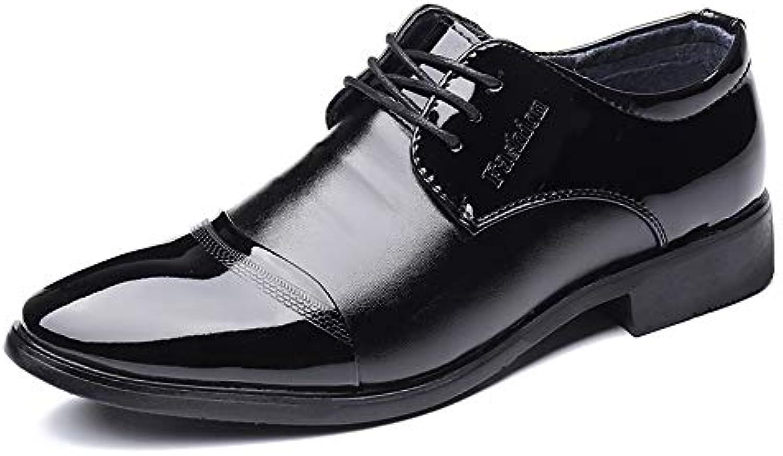 XHD-Scarpe Moda da Uomo Business Oxford Oxford Oxford Casual Comodo Classico Scarpe da Cerimonia in Pura Vernice con Suola in... | comfort  | Scolaro/Ragazze Scarpa  2c0270