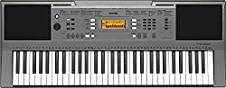 Yamaha PSR-E353, 61-Key Portable Keyboard with Cover, Grey