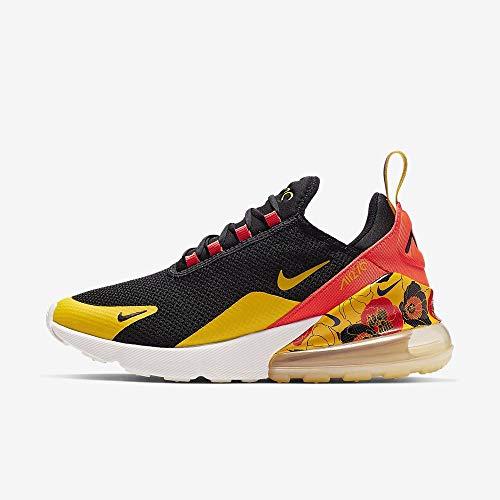 Nike Damen W Air Max 270 Se Leichtathletikschuhe, Mehrfarbig (Black/University Gold/Bright Crimson 5), 37.5 EU (Nike Air Max Womens Running)