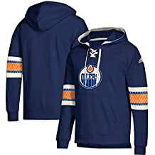 new style 6e4e3 4962b adidas Edmonton Oilers Vintage NHL - Felpa con Cappuccio, Colore  Blu, M