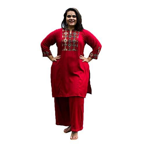 XXLlent Women's Plus Size Suit Set (WDR70_Maroon_3XL)
