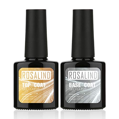 ROSALIND 10 ml 2 piezas Top Coat + Base Coat UV Gel