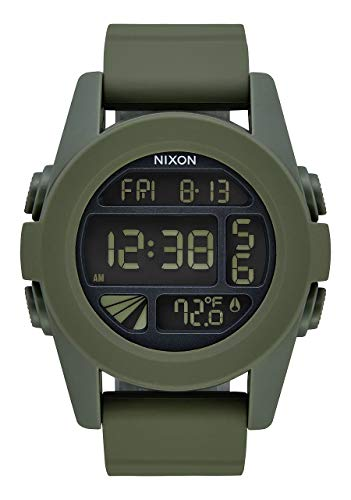 Nixon Unisex Erwachsene Analog Digital Uhr mit PU Armband A197-1085-00 (Nixon Unit Uhr)