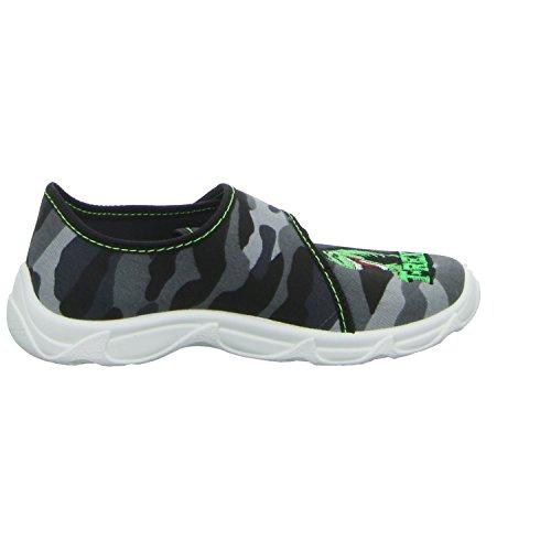 Sneakers ROBERT175 Jungen Hausschuh Kaltfutter Grau (Grau)