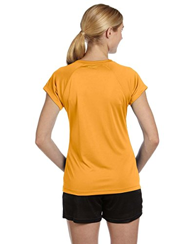 Champion Damen V-Neck Tee Essential Double Dry C/Gold