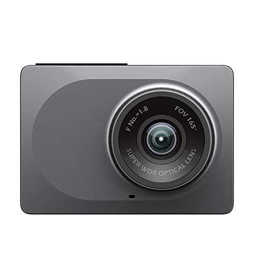 Yi Dash Camera YI-89006 - Cámara auto, DVR, 1080P, 60FPS, batería incorporada de 240 mAh, lente ultra gran angular de 165°, Wi-Fi, módulo inalámbrico de 2,4 GHz, versión Internacional, gris