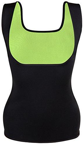 SLIMBELLE - Maglia Model_Number.valuelanti - Donna Green+ Black Sweat Sauna Vests Small