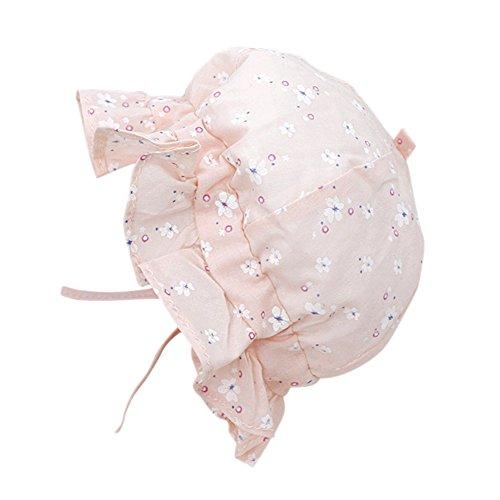 Baby-Mädchen-Prinzessin-Kappe scherzt Sommer-Hut-nette Blumenbaumwollkappe Kinderstrand-Sonnenhut für im Freien Feiertags-Reise durch Wongfon Baby Trapper