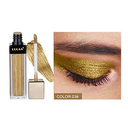 Cosmétique de maquillage de miroitement de scintillement de Fards à paupières,Magnificent Metals Glitter et Glow Ombre à paupières liquide Eyeshadow (C)