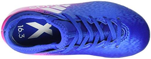 adidas X 16.3 Ag J, Chaussures de Football Mixte Enfant Bleu (Blue/ftw White/shopin)