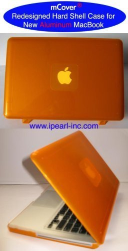 iPearl mCover Hartschalenhülle mit Tastatur-Schutzhülle für Modell A127813,3Regular Display Aluminium Unibody MacBook Pro ORANGE (Ipearl Mcover Macbook Pro 13)