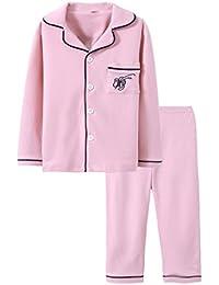 Lanmworn NiñOs AlgodóN Primavera OtoñO Invierno Casual Pijama Conjunto , Chicas Chicos 3-8 AñOs Elegante Manga Larga Ropa De Dormir Tops Pantalones .
