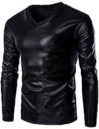 Logobeing Blusa Cuello V Hombre Manga Larga Algodon Original Baratas Camiseta
