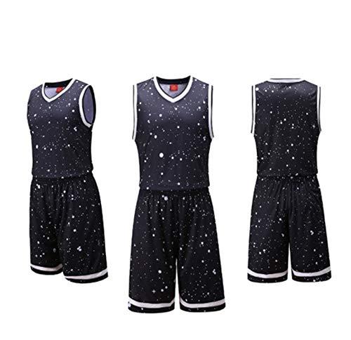 LZNK Mens NBA Swing Mann Basketball Shorts Sommer Trikots Basketball Uniform Top \u0026 Short Trainingsanzug lässig atmungsaktiv-B-XXXL (Uniformes De La Nba)