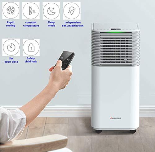 Wangxl condizionatore portatile mobile condizionatore d'aria, 4 in 1 con raffreddamento, riscaldamento, 3 velocità della ventola con modalità sleep, telecomando e timer
