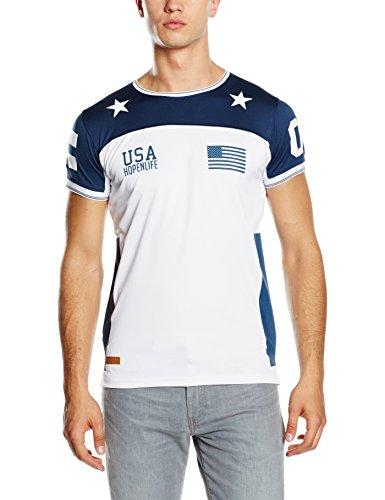 HOPE'N LIFE Herren T-Shirt Silogrim Blau - Blau (Navy)