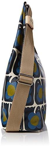 Orla Kiely - Love Birds Print Midi Sling Bag, Borse a Tracolla Donna Blue (Navy)