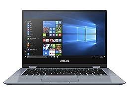 """ASUS VivoBook Flip 14 TP412UA-EC057T - Ordenador portátil de 14.0"""" Full HD (Intel Core i3-8130U, 4GB RAM, 128GB SSD, Intel HD Graphics 620, Windows 10 Home) Teclado QWERTY Español"""