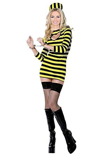 AEC - Cu080427/42 - Costume dalton femme noir et jaune taille 42-44