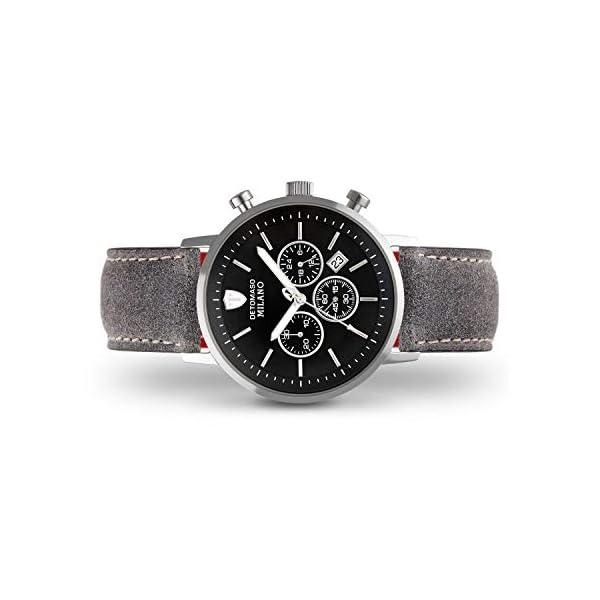 DETOMASO Milano XL Chronograph Silver/Black