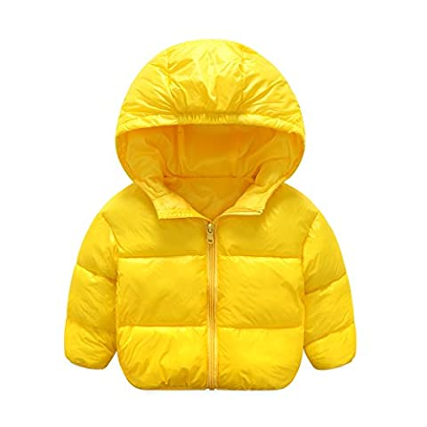 SANKE Bébé garçon Hoodie Puffer Jacket Léger Snow Down Coat Outerwear