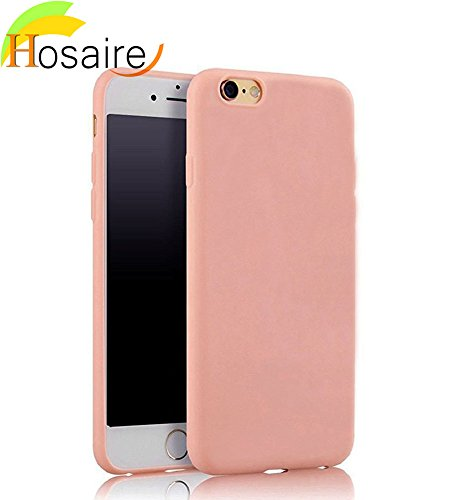 Hosaire 1Piece Coque soft Tpu solid ultra-thin pour iPhone 6/6s multicolore option-Rose clair