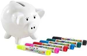 Playtastic Spardose: Porzellan-Sparschwein zum Selbergestalten (Sparschwein für Münze)