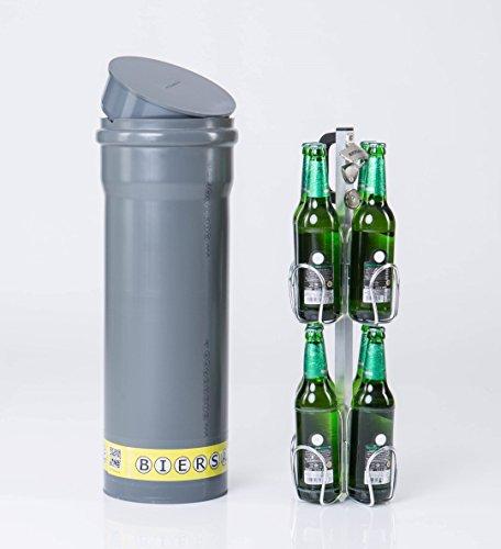 Bierkühler Kühlschrank (BIERSAFE: Der kleine Bruder. Kühler für 8x Bierflasche. Erd-Kühlrohr ohne Strom - cooles Bier-Geschenk!)