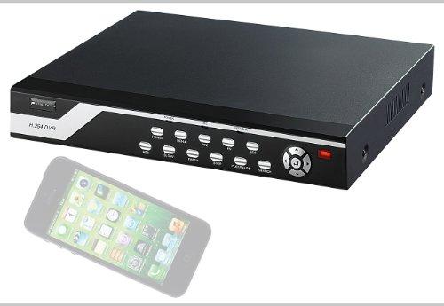VisorTech Überwachungs-Recorder DVR-6004 H.264 für 4 PTZ-Kameras - Dvr Mit Ptz
