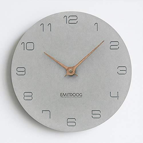 """PANCY Wanduhr ohne Tickgeräusche die Uhr ohne Sekundenzeiger Absolute Ruhe lautlos 12""""(29cm×29cm), Ideale Wohnaccessiores (15"""" (38CM x 38CM) Grau AA)"""