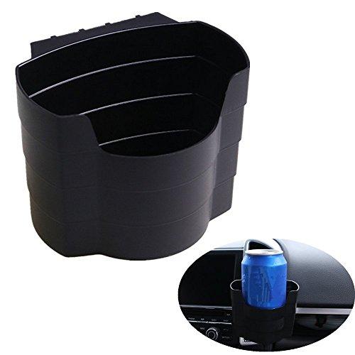 Chytaii Porte gobelet de Voiture Boîte de Stockage pour Voiture Noir 10*9.5*8cm