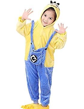 Dolamen Niños Unisexo Onesies Kigurumi Pijamas, Niña Traje Disfraz Animal Pyjamas, Ropa de dormir Halloween Cosplay...
