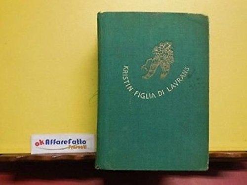 ART 9.612 LIBRO KRISTIN FIGLIA DI LAVRANS DI S UNDSET 1943