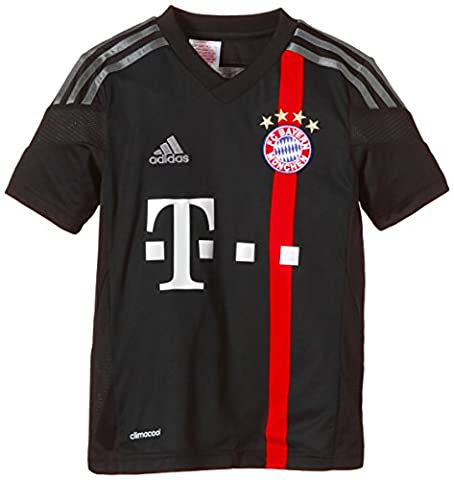 adidas Jungen Spieler-Trikot FC Bayern München UCL Replica, black/poppy/iron grey S08/dark shale, 176, (Fc Bayern München Trikot 2015)