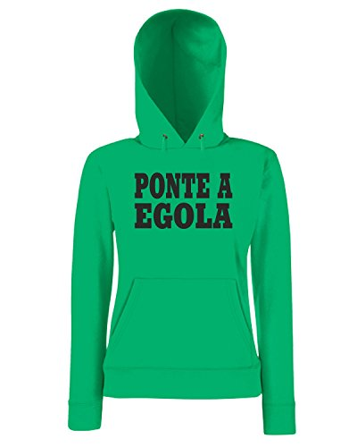 T-Shirtshock - Sweatshirt a capuche Femme WC0980 PONTE A EGOLA ITALIA CITTA STEMMA LOGO Vert